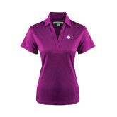 Ladies Purple Performance Fine Jacquard Polo-The Navigators