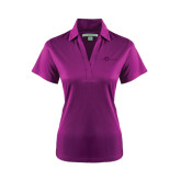 Ladies Purple Performance Fine Jacquard Polo-The Navigators Tone