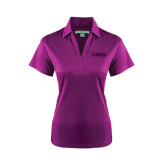 Ladies Purple Performance Fine Jacquard Polo-NAVS Tone