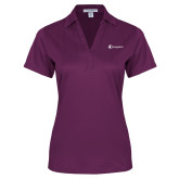 Ladies Purple Performance Fine Jacquard Polo-Navigators