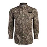 Camo Long Sleeve Performance Fishing Shirt-NAVS