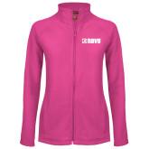 Ladies Fleece Full Zip Raspberry Jacket-NAVS