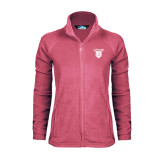 Ladies Fleece Full Zip Raspberry Jacket-Glen Eyrie