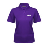 Ladies Purple Dry Mesh Polo-NAVS