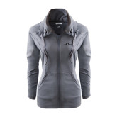 Ladies Sport Wick Stretch Full Zip Charcoal Jacket-The Navigators Tone
