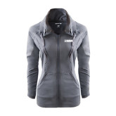Ladies Sport Wick Stretch Full Zip Charcoal Jacket-NAVS