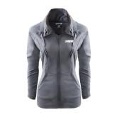 Ladies Sport Wick Stretch Full Zip Charcoal Jacket-NAVS