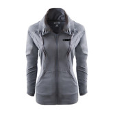 Ladies Sport Wick Stretch Full Zip Charcoal Jacket-NAVS Tone