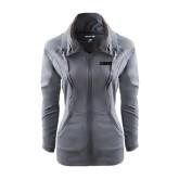 Ladies Sport Wick Stretch Full Zip Charcoal Jacket-NAVS Tone