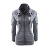 Ladies Sport Wick Stretch Full Zip Charcoal Jacket-Glen Eyrie