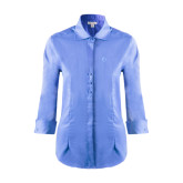 Ladies Red House Light Blue 3/4 Sleeve Shirt-The Navigators Tone
