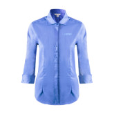 Ladies Red House Light Blue 3/4 Sleeve Shirt-NAVS Tone
