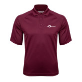 Maroon Textured Saddle Shoulder Polo-The Navigators