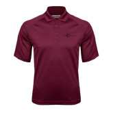 Maroon Textured Saddle Shoulder Polo-The Navigators Tone