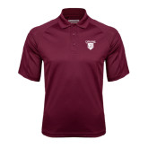 Maroon Textured Saddle Shoulder Polo-Glen Eyrie