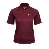 Ladies Maroon Textured Saddle Shoulder Polo-The Navigators