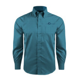 Red House Teal Long Sleeve Shirt-The Navigators Tone