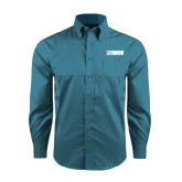 Red House Teal Long Sleeve Shirt-NAVS