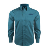 Red House Teal Long Sleeve Shirt-NAVS Tone