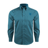 Red House Teal Long Sleeve Shirt-Glen Eyrie Tone