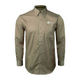 Khaki Twill Button Down Long Sleeve-The Navigators