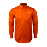 Orange Twill Button Down Long Sleeve-The Navigators