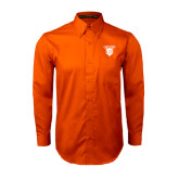 Orange Twill Button Down Long Sleeve-Glen Eyrie