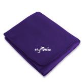 Purple Arctic Fleece Blanket-Eagle Lake