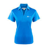 Ladies Light Blue Performance Fine Jacquard Polo-The Navigators
