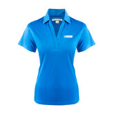 Ladies Light Blue Performance Fine Jacquard Polo-NAVS