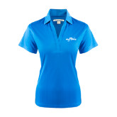 Ladies Light Blue Performance Fine Jacquard Polo-Eagle Lake