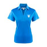 Ladies Light Blue Performance Fine Jacquard Polo-Glen Eyrie