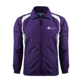 Colorblock Purple/White Wind Jacket-The Navigators