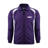 Colorblock Purple/White Wind Jacket-NAVS
