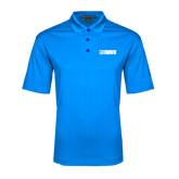 Light Blue Performance Fine Jacquard Polo-NAVS