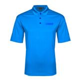 Light Blue Performance Fine Jacquard Polo-NAVS Tone