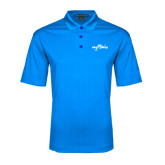 Light Blue Performance Fine Jacquard Polo-Eagle Lake
