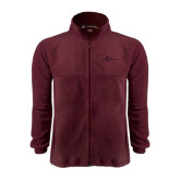Fleece Full Zip Maroon Jacket-The Navigators Tone