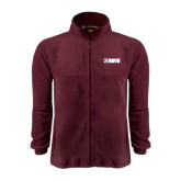 Fleece Full Zip Maroon Jacket-NAVS