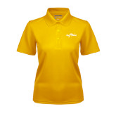Ladies Gold Dry Mesh Polo-Eagle Lake