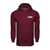 Under Armour Maroon Performance Sweats Team Hood-NAVS