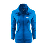 Ladies Sport Wick Stretch Full Zip Sapphire Jacket-The Navigators
