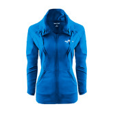 Ladies Sport Wick Stretch Full Zip Sapphire Jacket-Eagle Lake
