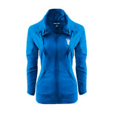 Ladies Sport Wick Stretch Full Zip Sapphire Jacket-Glen Eyrie