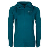 Ladies Sport Wick Stretch Full Zip Sapphire Jacket-Navigators