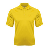 Gold Textured Saddle Shoulder Polo-The Navigators Tone