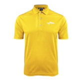 Gold Dry Mesh Polo-Eagle Lake