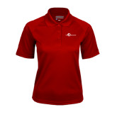 Ladies Cardinal Textured Saddle Shoulder Polo-The Navigators