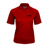 Ladies Cardinal Textured Saddle Shoulder Polo-NAVS