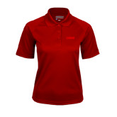 Ladies Cardinal Textured Saddle Shoulder Polo-NAVS Tone